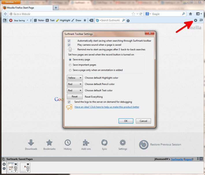 Firefox Settings Edit